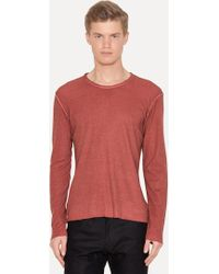 Lumen Et Umbra - Cotton Wool Silk Long Sleeve T-shirt - Lyst