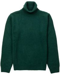 A.P.C. Knit Wool Turtleneck Vert Sapin - Green