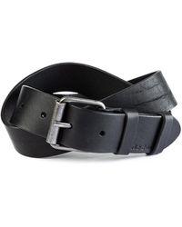 Nudie Jeans - Nudie Jeans Pedersen Leather Belt Black - Lyst