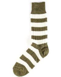 Merz B. Schwanen - S76 Striped Socks Army/nature - Lyst
