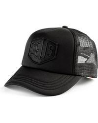 6c357601224 Lyst - Deus Ex Machina Trucker Cap Baylands - Black in Black for Men