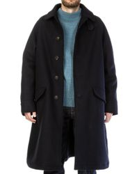 Nigel Cabourn - Nam Coat Wool Navy - Lyst
