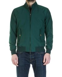 Baracuta - G9 Modern Classic Harrington Jacket Racing Green - Lyst