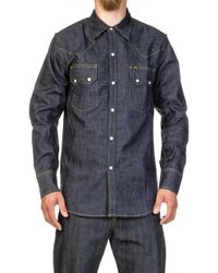 Lee Jeans - Western Denim Shirt Dry Indigo - Lyst