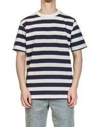 Norse Projects - James Rugby Stripe Navy - Lyst