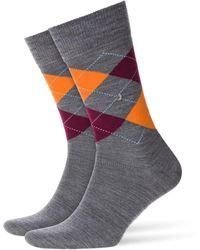 Burlington - Edinburgh Socks Anthracite Melange - Lyst