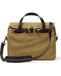 Filson - Original Briefcase Dark Tan - Lyst