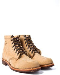 """Chippewa Boots - Chippewa 6"""" Suede Utility Boots Khaki Suede - Lyst"""