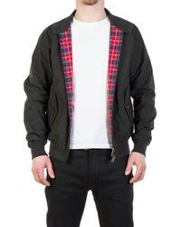 Baracuta - G9 Modern Classic Harrington Jacket Faded Black - Lyst