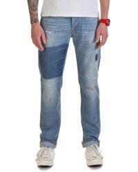 Nudie Jeans - Nudie Jeans Steady Eddie Indigo Patched - Lyst