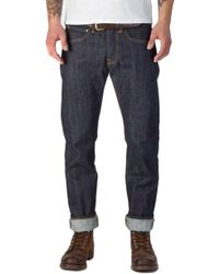 Edwin - Ed-55 Red Listed Selvage Denim Unwashed 14oz - Lyst