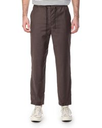 Still By Hand - Wool Trousers Brown - Lyst