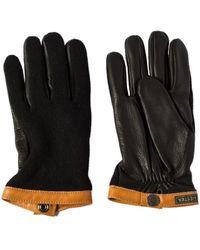 Hestra - Sport Classic Deerskin Wool Tricot Black/black - Lyst