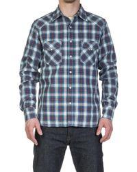 Rogue Territory - Western Shirt Classic Blue Plaid - Lyst