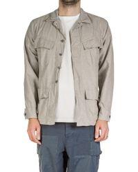 Nigel Cabourn - Lybro Long Sleeve Nam Shirt Stone - Lyst