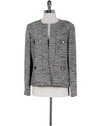 Chanel - Classic Tweed Logo Jacket - Lyst