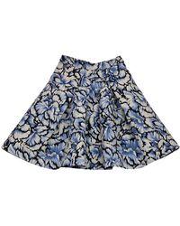 Carolina Herrera - Blue Printed Flared Skirt - Lyst