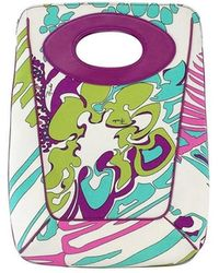 Emilio Pucci - Multi-color Print Canvas Clutch - Lyst