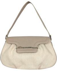 Cartier - Beige Canvas & Leather Shoulder Bag - Lyst