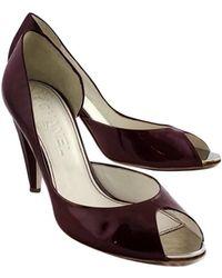 Chanel - Burgundy D'orsay Heels - Lyst