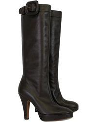 Moschino - Brown Platform Boots - Lyst