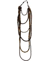 Brunello Cucinelli - Multistrand Bead Necklace - Lyst