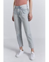 Current/Elliott - The Vintage Cropped Slim Jean - Lyst
