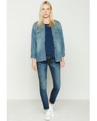 Current/Elliott - The X Hatch Nearly Skinny Maternity Jean - Lyst