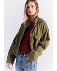 Current/Elliott - The Cropped Infantry Jacket - Lyst