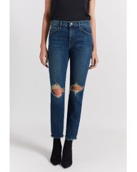 Current/Elliott - The High Waist Stiletto Jean - Lyst