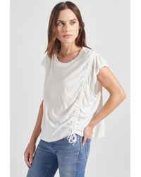 Current/Elliott - The Rouched Muscle Tee - Lyst