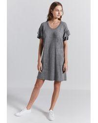 Current Elliott - The Ruffle Roadie Dress - Lyst 1085ca625