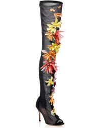 Cushnie et Ochs - Embellished Emilio Over-the-knee Boot - Lyst