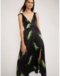 Cynthia Rowley - Cleo Lily Of The Valley Tie Shoulder Midi - Lyst