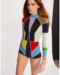 Cynthia Rowley - Prism Colorblock Wetsuit - Lyst