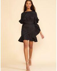 Cynthia Rowley - Black Wallflower Ruffle Wrap Dress - Lyst