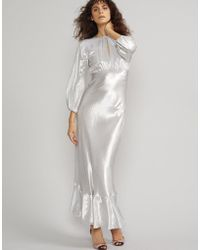 Cynthia Rowley - Silver Lake Metallic Maxi Dress - Lyst