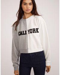 Cynthia Rowley - Caliyork Cropped Sweatshirt - Lyst