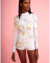 Cynthia Rowley - Light Floral High Tide Wetsuit - Cr X Goop Exclusive - Lyst