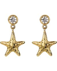 Theo Fennell - 18ct Yellow-gold And Diamond Starfish Earrings - Lyst