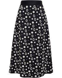 OSMAN Pearl Embellished Midi Skirt black - Lyst