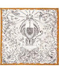 Emma J Shipley Rousseau Printed Silk Scarf - Lyst