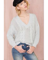 Nasty Gal Lay Low Oversized Sweater - Lyst