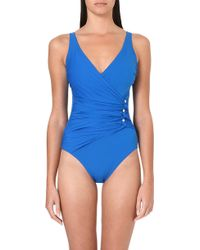 Gottex Le Ribot Ruched Swimsuit Pigment Blue - Lyst