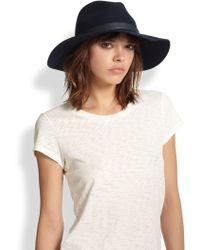 Rag & Bone Wide Brim Wool Fedora - Lyst