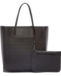 Alexander Wang Black Leather Mesh Prisma Tote - Lyst