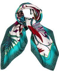 Emma J Shipley - Audubon Classic Silk Scarf in Turquoise By - Lyst