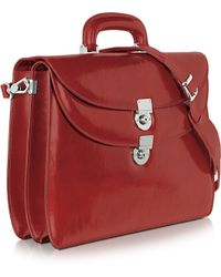L.A.P.A. - Womens Red Leather Briefcase - Lyst
