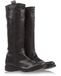 Fiorentini + Baker Brown Tall Boots - Lyst