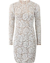 Michael Kors Lace Embroidered Dress - Lyst